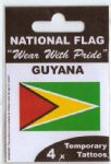 Guyana Country Flag Tattoos.